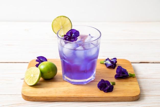 ライムと蝶エンドウ豆ジュース