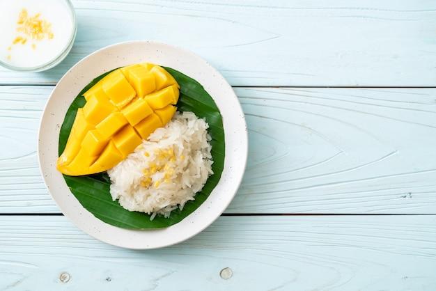 もち米とマンゴー