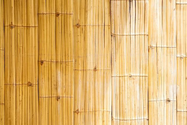 竹の壁のテクスチャ表面