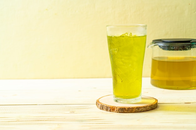 Японский зеленый чай со льдом