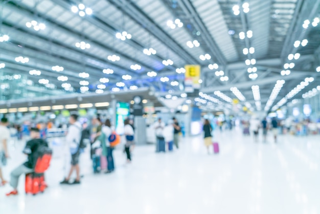 Абстрактный размытия и расфокусированным интерьер терминала аэропорта
