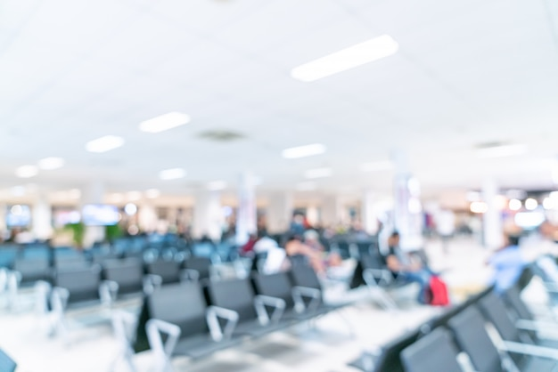 空港での抽象的なぼかし