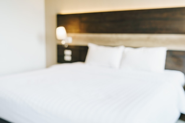 Абстрактный размытый и расфокусированный интерьер спальни