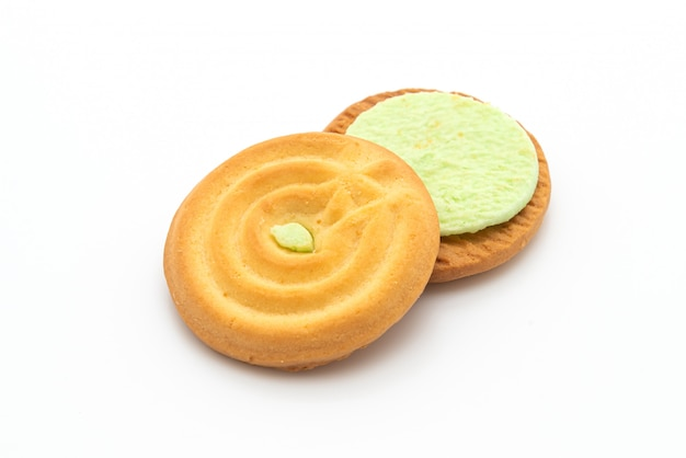 パンダンクリームとクッキー