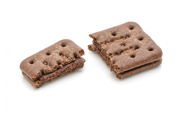 チョコレートクッキーとチョコレートクリーム