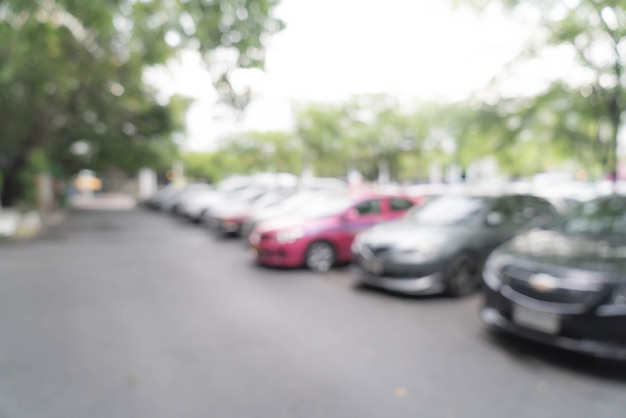 抽象的なぼかし駐車場