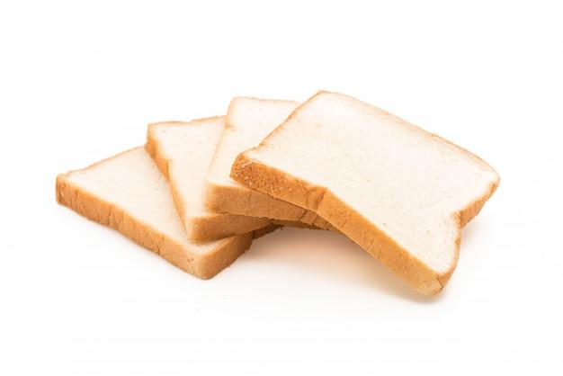 Молочный хлеб на белом