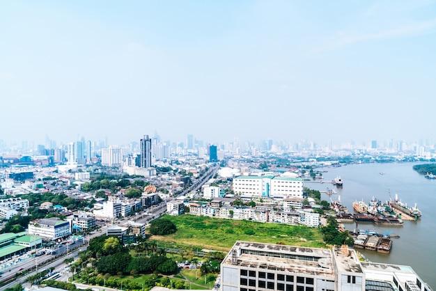 タイバンコク市のスカイライン