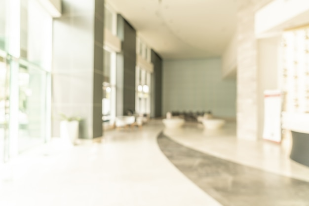 Абстрактный размытия лобби отеля для фона