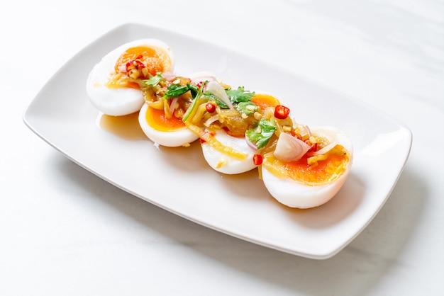 ゆで卵スパイシーサラダ