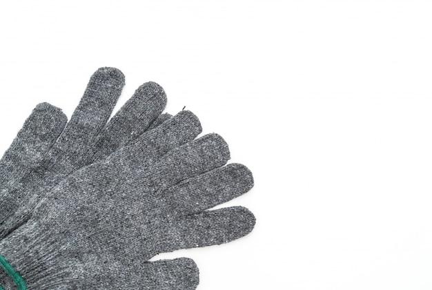 Перчатки на белом фоне