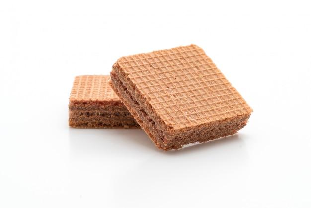 Вафельное печенье с шоколадным кремом