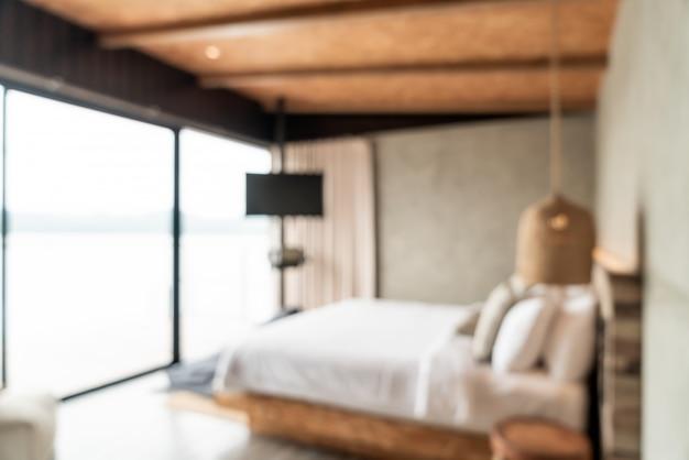 Абстрактное размытие интерьера спальни для фона