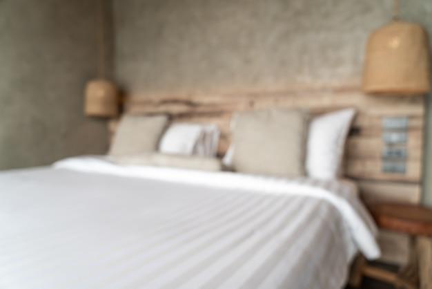 抽象的なぼかしの背景の寝室の室内装飾