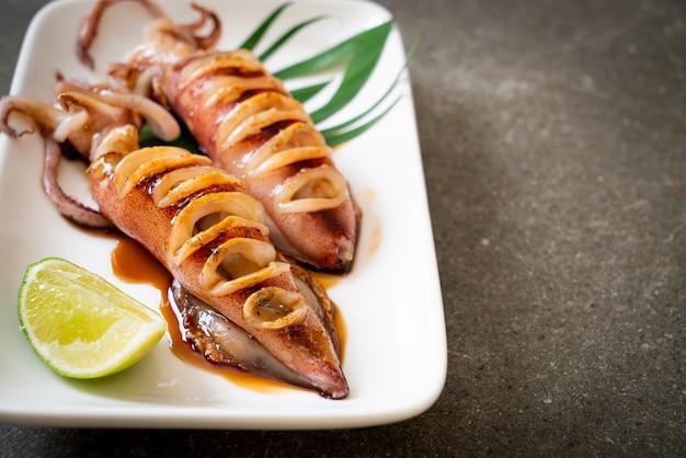 イカの照り焼きソース焼き