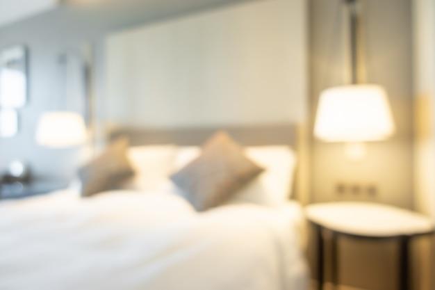 Абстрактный размытия интерьер спальни для фона