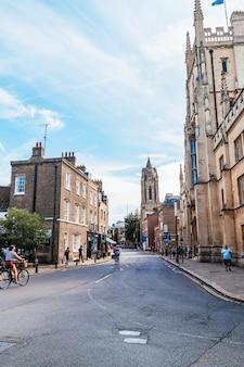 イギリス、ケンブリッジの古い通り