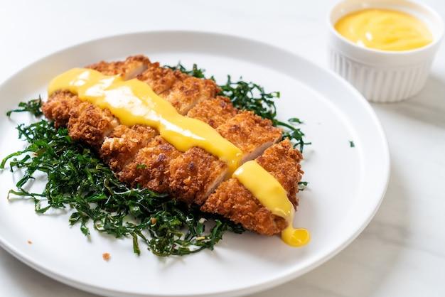 Жареная курица с лимонно-лаймовым соусом
