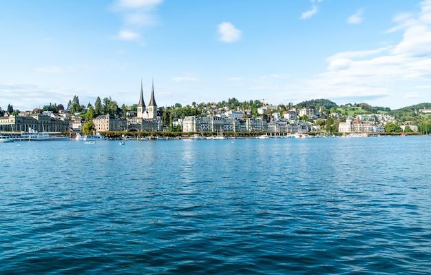 スイスのルツェルンの街並み