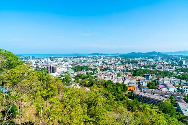 Городской пейзаж пхукета на холме ранг в пхукете