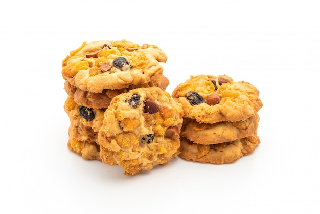 Домашнее печенье с кукурузными хлопьями и изюмом