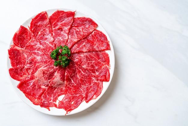 生牛肉のスライス