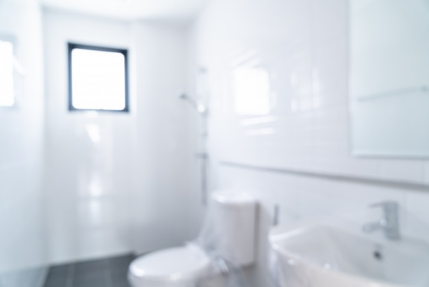 抽象的なバスルームとトイレをぼかし