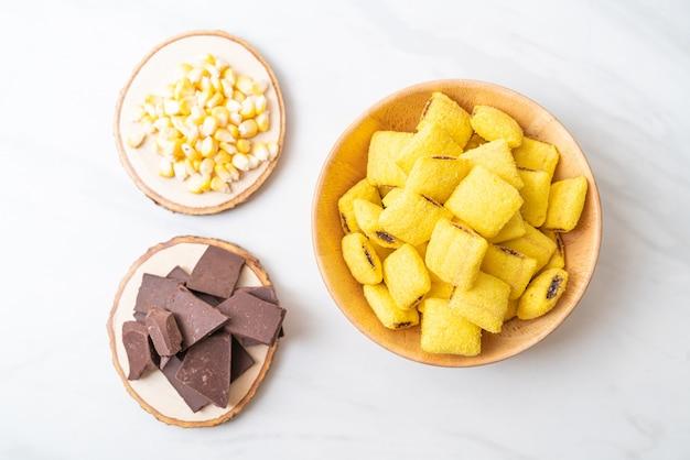 トウモロコシとチョコレートのペストリー