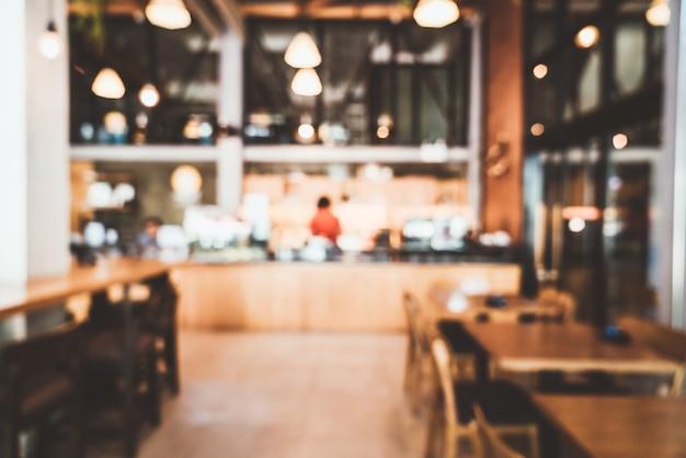 抽象的なぼかしとデフォーカスカフェレストラン