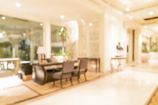 Абстрактный размытие роскошный отель лобби для фона