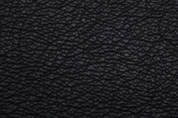 Натуральная черная кожа текстура