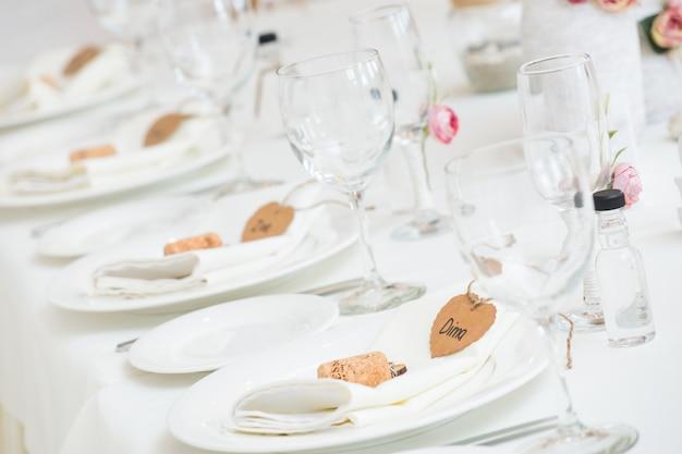 結婚式の宴会テーブルの装飾