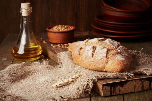 素朴な全粒粉パン