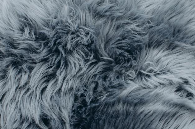 シルバーフォックスの毛皮のコートテクスチャ背景。