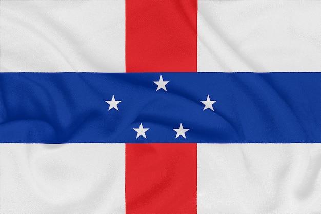 テクスチャ生地のオランダ領アンティル諸島の旗。