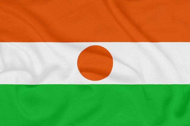 テクスチャ生地、愛国心が強いシンボルにニジェールの旗