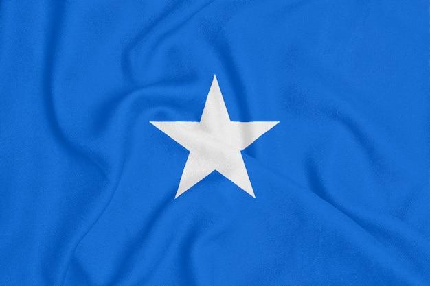 テクスチャ生地のソマリアの旗。愛国心が強いシンボル