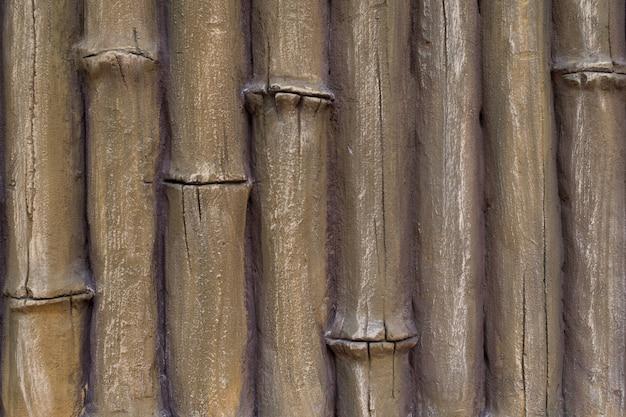 竹の幹の漆喰しっくいの模倣。抽象的な背景