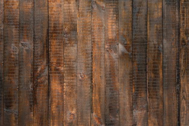 茶色の垂直の木製の板。抽象的な背景
