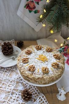 Румынский ореховый торт