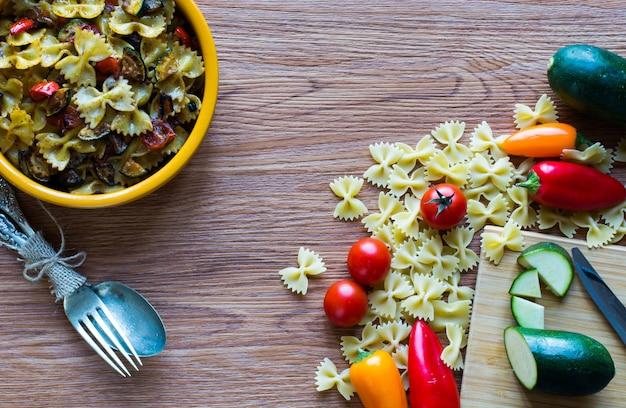 野菜のイタリアンパスタ