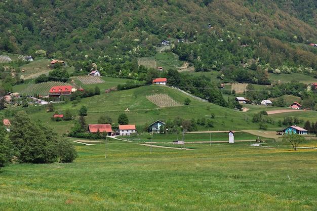スロベニアの山の村