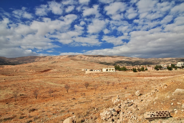 Природа в долине бекаа в ливане