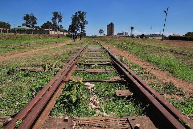 タンザニアのアルーシャ市の鉄道駅