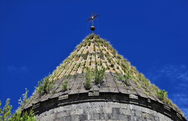 コーカサス、アルメニアの山の中のサナヒン修道院