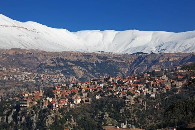 レバノン、カディシャバレーの村