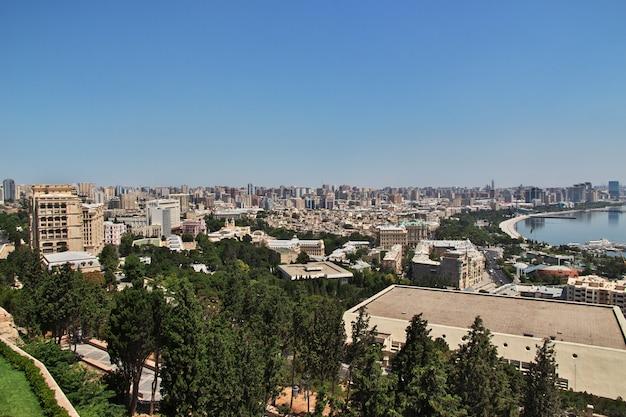 アゼルバイジャンのバクーの旧市街の眺め