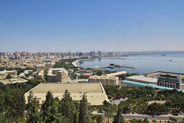 Вид на старый город баку, азербайджан