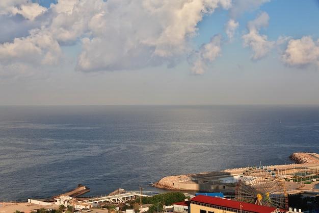 レバノンのベイルート市の眺め