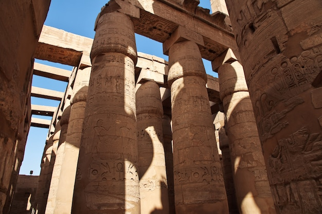 エジプトルクソールの古代カルナック神殿